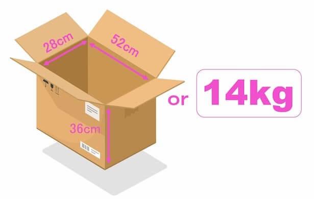 Amazonパントリーの箱の大きさ