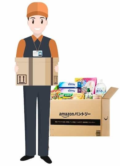 Amazonパントリーを運ぶ運送屋さん