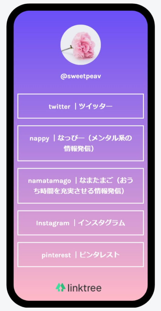 Instagram Linktree
